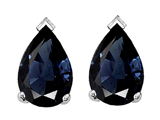Tommaso Design™ 8x6mm Pear Shape Genuine Sapphire Earrings
