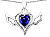 Original Star K Wings Of Love Pendant with Created Heart Sapphire