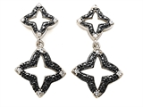 Star K™ Cubic Zirconia Black Star Earrings Studs style: 305791