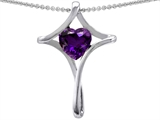 Original Star K™ Large Christian Cross Of Love Pendant With Heart 8mm Simulated Amethyst style: 305801