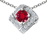 Original Star K™ Round Created Ruby Pendant style: 305818