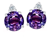 Original Star K Round 7mm Simulated Alexandrite Earring Studs
