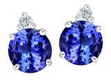 Original Star K Round 7mm Simulated Tanzanite Earring Studs