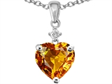 Original Star K™ Heart Shape 8mm Genuine Citrine Pendant style: 305868
