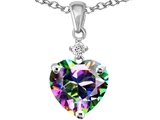 Original Star K Heart Shape 8mm Rainbow Mystic Topaz Pendant