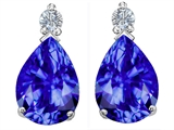 Star K™ Pear Shape 8x6 mm Simulated Tanzanite Earrings Studs style: 305980