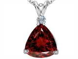 Original Star K Large 12mm Trillion Cut Simulated Garnet Pendant