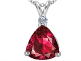 Star K™ Large 12mm Trillion Cut Created Ruby Pendant Necklace style: 306003