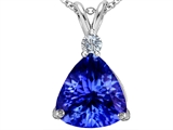 Original Star K Large 12mm Trillion Cut Simulated Tanzanite Pendant
