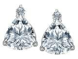 Original Star K™ 7mm Trillion Cut Genuine White Topaz Earrings Studs style: 306043