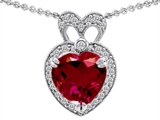 Original Star K™ Heart Shape Created Ruby Pendant style: 306097
