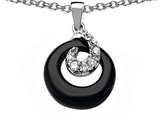 Original Star K Round Simulated Onyx Pendant