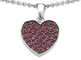Star K™ Heart Shape Love Pendant Necklace with Created Ruby style: 306174