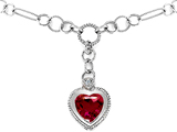 Original Star K™ Heart Shape Created Ruby Pendant style: 306201