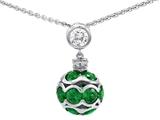 Original Star K™ Simulated Emerald Ball Pendant style: 306210