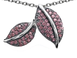 Original Star K™ Nature Lover Leaf Pendant with Created Pink Sapphire style: 306213