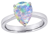 Original Star K™ Large Pear Shape Solitaire Engagement Ring with Created Opal