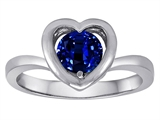 Original Star K™ Heart Engagement Promise of Love Ring with 7mm Round Created Sapphire style: 306247