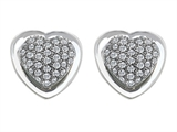 Star K™ Heart Shape Love Earrings with Cubic Zirconia style: 306259