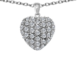 Original Star K™ Puffed Heart Love Pendant with Cubic Zirconia