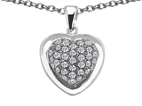 Star K™ Heart Shape Love Pendant Necklace with Cubic Zirconia style: 306262
