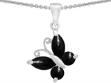 Original Star K™ Butterfly Pendant Made with Black Onyx