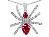 Original Star K™ Spider Pendant With Pear Shape Created Ruby