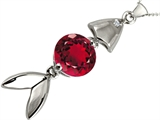 Original Star K Fish Pendant With Round Created Ruby