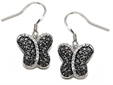 Original Star K™ Black and White Cubic Zirconia Butterfly Earrings