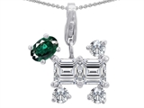 Original Star K™ Dog Pendant With Simulated Emerald