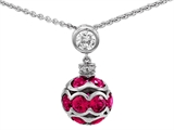 Star K™ Created Ruby Ball Pendant Necklace style: 306321