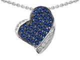 Original Star K™ Heart Shape Love Pendant With Created Sapphire style: 306346