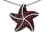 Original Star K™ Starfish Pendant With Round Created Ruby style: 306362