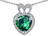 Original Star K™ Heart Shape Simulated Emerald Pendant style: 306379