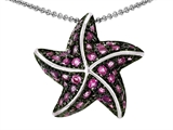 Original Star K™ Starfish Pendant With Created Round Pink Sapphire