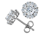 Original Star K™ Round Cubic Zirconia Earrings style: 306395