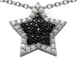 Original Star K™ Round Black and White Cubic Zirconia Star Pendant