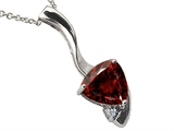 Tommaso Design 7mm Trillion Cut Genuine Garnet Pendant