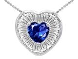 Original Star K™ Heart Shape Created Sapphire Heart Pendant style: 306418
