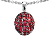 Star K™ Oval Puffed Pendant Necklace with Created Ruby style: 306421