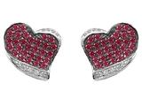 Original Star K™ Heart Shape Love Earrings With Created Ruby style: 306427