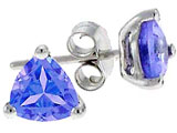 Tommaso Design™ 4.5mm Trillion Genuine Tanzanite Earrings style: 306438
