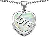 Original Star K Large Love Heart Pendant with 15mm Heart Shape Created Opal