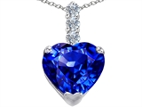 Original Star K Large 12mm Heart Shape Simulated Tanzanite Pendant