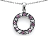 Original Star K™ Love Circle Pendant With Created Pink Sapphire