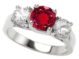 Original Star K 7mm Round Created Ruby Engagement Ring