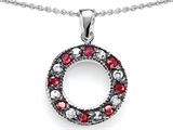 Original Star K™ Love Circle Pendant With Created Ruby
