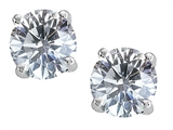 Original Star K™ Round 7mm Genuine White Topaz Earring Studs