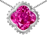 Original Star K™ Large Clover Pendant with 12mm Clover Cut Created Pink Sapphire style: 306748