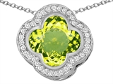 Original Star K™ Large Clover Pendant with 12mm Clover Cut Simulated Peridot style: 306770